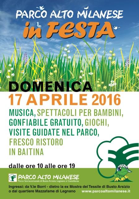 17 Aprile Parco Alto Milanese in festa
